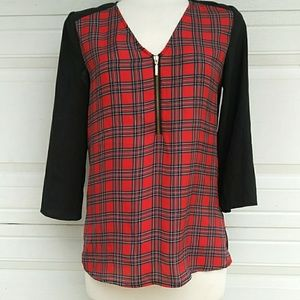 Express 3/4 Sleeves Plaid Shirt